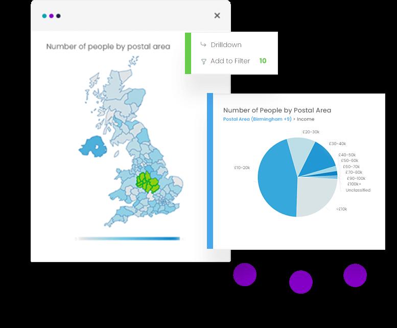 visually select data